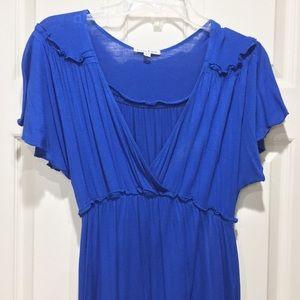 Blue jersey dress